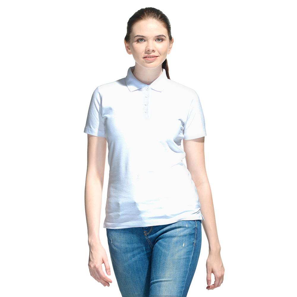 Женская рубашка поло с именной вышивкой (Белый)
